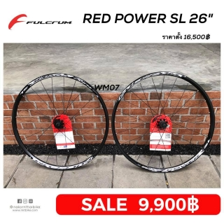 "Fulcrum Red Power SL DB Black ล้อ 26"" [wm07]"