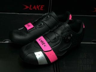 LAKE 176-X Women's (หน้าเท้ากว้าง) - Black Pink/Silver Size EU39