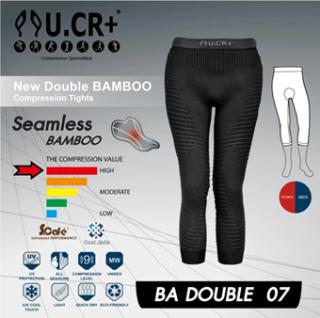 กางเกง UCR 18 New Double BAMBOO 7  PAD/(BLK)- ขา4ส่วน