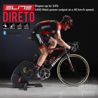 Elite DIRETO (มี Power Meter วัดวัตต์ในตัว) + พร้อมฐานรองล้อ