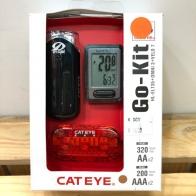 Cateye Kit (ชุดไฟหน้า CE135 -ไฟท้าย Omni3 ไมล์จับความเร็วมีสาย Velo7 )