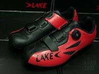 LAKE CX 176-X (หน้าเท้ากว้าง) สีแดง/ดำ Size EU42