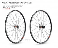 "DT Swiss XR 1501 SPLINE ONE 22.5 (size 29"")"